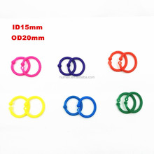 Plastic color binding ring 15mm 20mm
