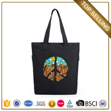 Chinese supplier customize packaging clutch canvas laptop zipper bag for girls
