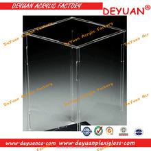 High Quality Flat Packed Acrylic Box/removable acrylic box