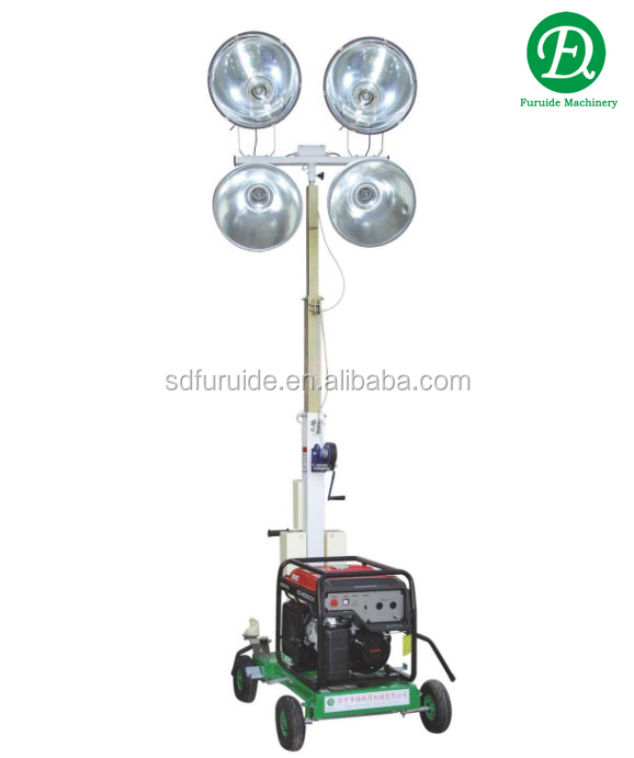 Diesel Engine Portable Led Light Tower With 4 Lamps Of