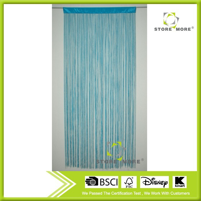 Polyester blue string curtain
