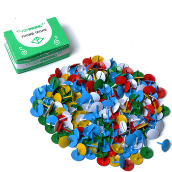 factory wholesale metal colorful thumb tacks bulk sale
