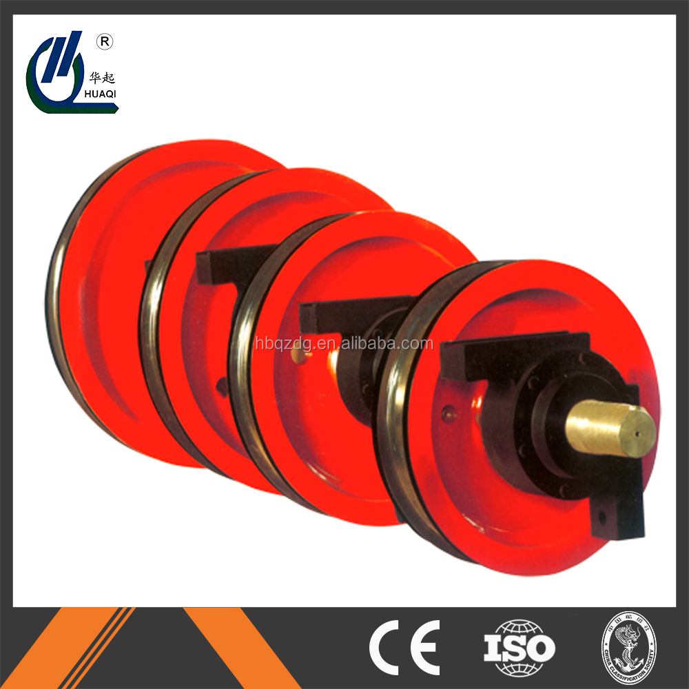 china export 4 wheel trolley , forged steel crane wheel