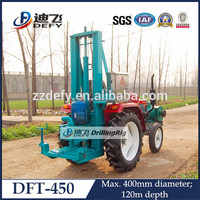 DFT-450 tractor used portable manual water well drilling equipment