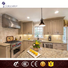 Classical White Modren Solid Wood Kitchen Cabinet with Top Hardware