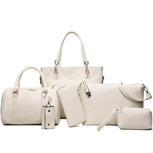 women 6pcs handbag set ladies with Printing fashion styles