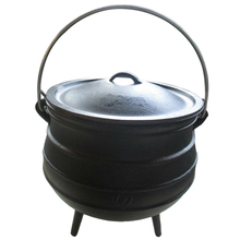 South Africa 3 legs cast iron oxtail jie pot set for hiking camping