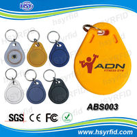 china manufacturers Multi color plastic 125khz rfid key proximity fob with numbers