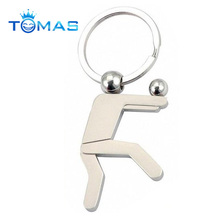 Custom sports figure metal keychain for volleyball players