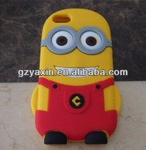 3d despicable me minions silicone rubber case for iphone 5c