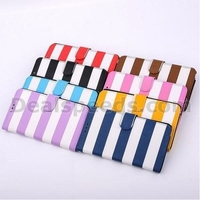 Cross Texture Stripe Pattern Wallet Style Flip Stand PC+PU Leather Case for Samsung Galaxy Note 3 N9000 N9002 N9005