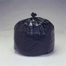 33 GAL(124L) disposable value packed heavy duty black plastic trash bag, recycled black waste bag