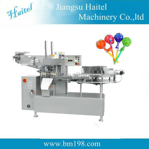 hot sales Automatic lollipop candy, toffee wrapping machine
