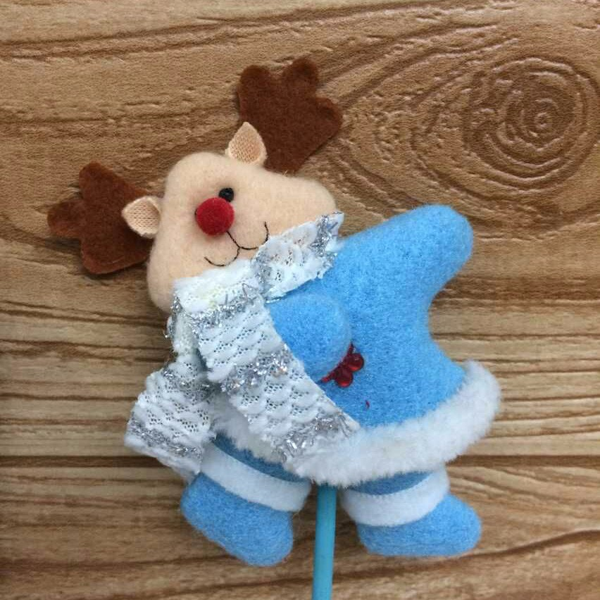 Blue Christmas Picks Gifts Crafts Specialized Santa Snowman Deer Christmas Picks Ornament