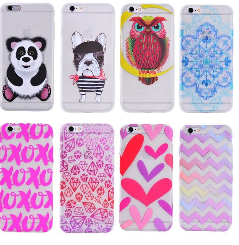 Free Sample Rubber Coating Transparent PC TPU Custom Printable Mobile Cover for iPhone 6 6s 7 S7 Wholesale Cell Phone Case