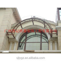 Practical wrought iron eyebrow awning canopy designs