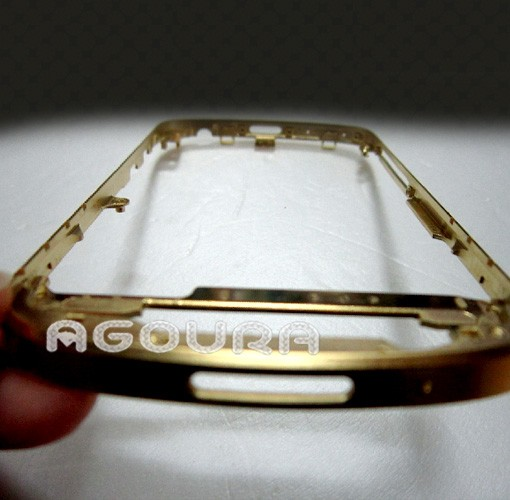 High quality 24ct gold bezel housing for blackberry Q10, gold frame for Blackberry Q10