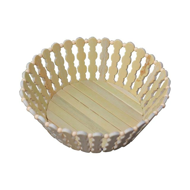 Fruit Basket Holder Household Eoc Friendly Vegetables Basin Cheap Bamboo Basket Basin