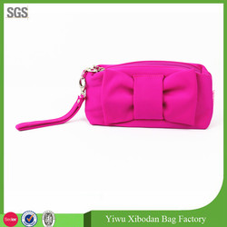 Cute girls pink PU cosmetic toiletry purse make up bag
