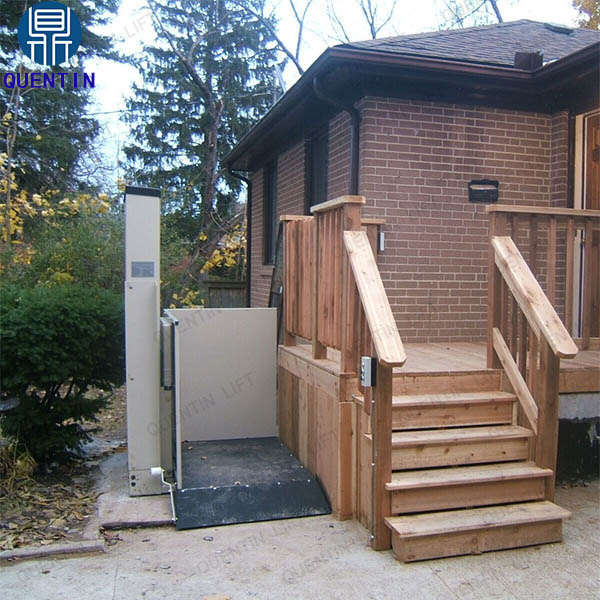 3.5m loading 300kg electric home lift hydraulic wheelchair lift platform used for disabled people