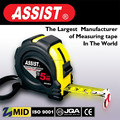 Made in China sticks to metal steel 5m measuring tape 20G Rubber case measure tape