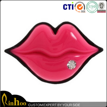 Red Lip Ring Fashion Women Enamel Ring Fashionable and Fancy Alloy Ring