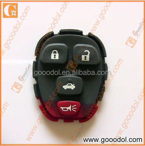 4 keys silicone rubber keypad for GM