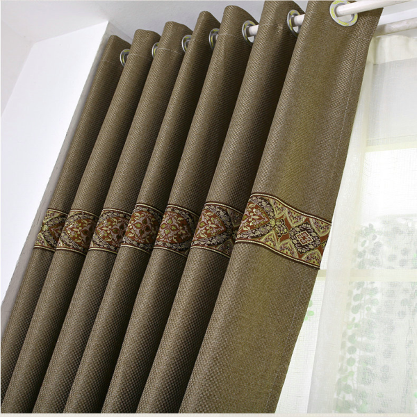 Environmental home textile custom linen fabric window curtains for living room