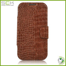 100% genuine crocodile leather phone case for galaxy s4