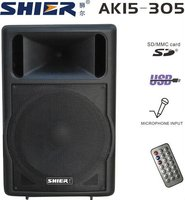 SHIER AK15-305 usb mp3 portable pa speaker crossover