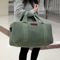 Cheap Wholesale Large Fashionable Ladies Foldable Canvas Luggage Travel Bags