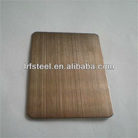 PVD Coating Satin Bronze Color Stainless Steel Sheet