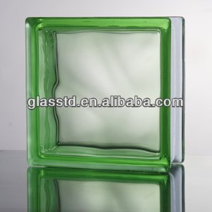 Casting glass block for bars