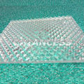 Transparent Polycarbonate prismatic shape pc sheet/diamon plastic plate