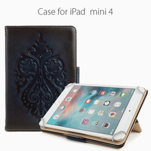 Popular customized fashion genuine leather tablet case for iPad Mini 4 for Chinese Factory wholesale