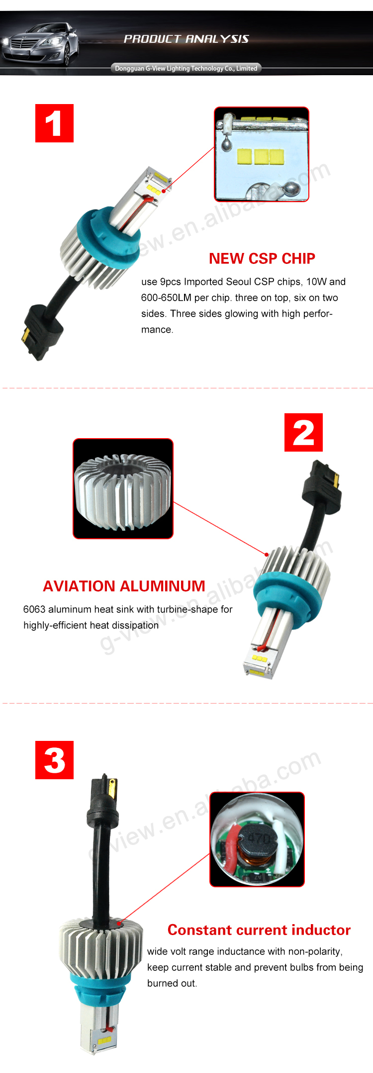 Superbright 1200lm T20 auto led light ,9 pcs CSP led reversing car light, 7440 led auto bulb