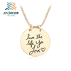 factory direct stock sell gold metal custom charm pendant zinc alloy with chains