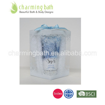 Chinese natural bath & foot care set in printed PVC box