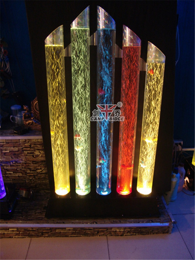 Cool fish tank decorations tube aquarium lamp with fish water feature ideas