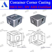 Casting steel iso 1161 container corner casting in stock