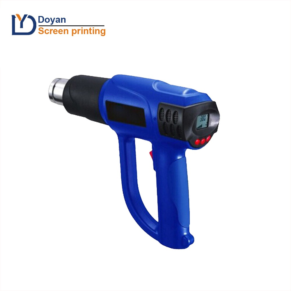 Temperature adjustable digital screen display heat gun