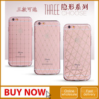 For iphone 6s tpu bling diamond back case , diamante rhinestone soft protective phone cover for iphone 6