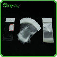 packaging silica gel desiccant in opp popcorn plastic transparent pearl film header self adhesive bag