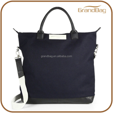 simple style high quality canvas tote bag summer handbag with long shoulder sling