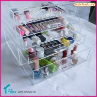 Hot Sell Low Price New Products Clear Acrylic Makeup Organizer With Drawer Plastic Boxes Plastic Storage