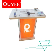 Modern Customized Fancy Mobile Shop Counter Cell Phone Display Table Design to Display Mobile Phone