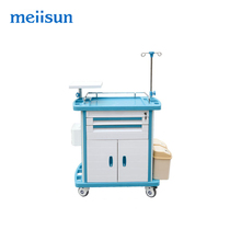 Top sale medical trolley cleaning hospital crash cart