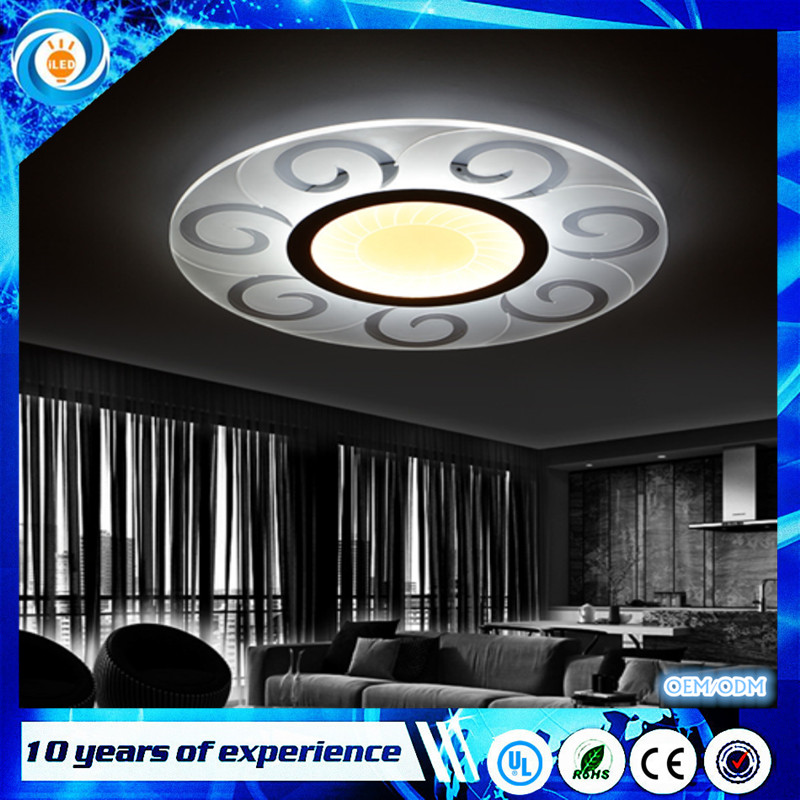 Led Ceiling Lamp Fixture Living Room Bedroom Indoor Lighting Remote Control Super-thin Modern Led Ceiling Lights