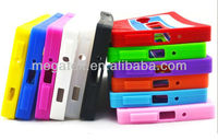 Cell phon case Cassette Tape design silicone material for samsung Galaxy S4 case, for samsung s4 cover
