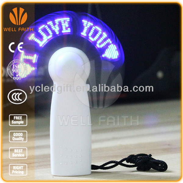 New products 2014 Factory direct sales LED message fan reprogram